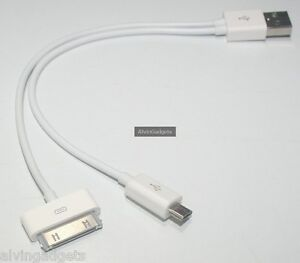 3 in 1 USB Charge Sync Cable For Asus Vivo Oppo iPad2/3,iPhone3,4/S Samsung