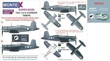 Montex Super Mask 1:32 F4U-1 Corsair for Tamiya Kit #1 Spraying Stencil #K32269