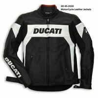 Men Ducati Jacket Motorcycle Riding Jacket CE Leather jacket GE-45-2020(US38-48)
