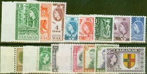 Sarawak 1955-57 set of 15 SG188-202 V.F MNH & LMM