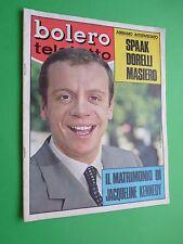 Bolero 1122 3 Novembre 1968 Corrado Pani Emma Danieli Lauretta Masiero Davison