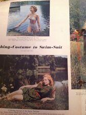 63-8 Ephemera 1950 Article Sandra Bourne Rank Actress Model 2 Pages