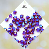 60pcs Swarovski Bicone 4mm #5301/5328 AB2X Crystal beads - pick colors