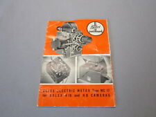 SWISS INSTRUCTION MANUAL for BOLEX MC17 ELECTRIC MOTOR 16MM MOVIE CAMERA
