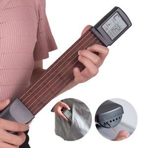 Pocket 6 Fret 6 Strings Guitar Finger Trainer Beginner Chord Practice Tool D9R5