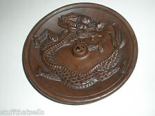 "Dragon Incense Plate Burner - 6 ""- Clay"