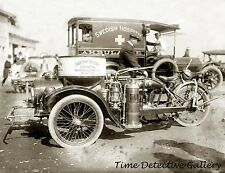 Antique Dayton Tri-car Chemical Firefighting Apparatus - Historic Photo Print