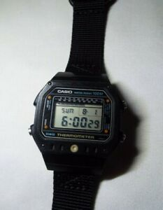 VINTAGE CASIO TS-1000 DIGITAL 100M THERMOMETER LCD WATCH MADE IN JAPAN READ!!!!!