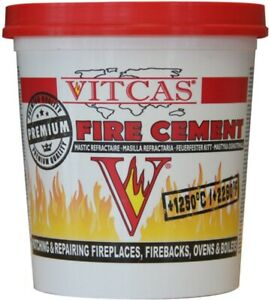 VITCAS BUFF FIRE CEMENT 1KG FOR STOVES,OVENS,BOILERS.*HEAT RESISTANT*