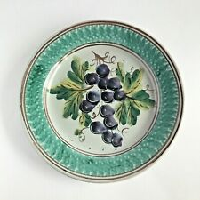 More details for vintage hand painted taormina sicily italy plate fruit grapes wall art 24cm 9.5