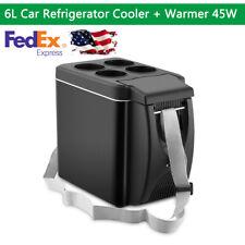 6L Mini Fridge Electric Cooler and Warmer Travel Freezer 45W For 12V Car Suv