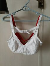 2 PINKK WOMENS BRAS Full Coverage 38B red 40B white no wire no padding nylon