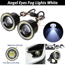"2.5"" inch LED Fog Light Projector Driving Lamp COB Angel Eye Halo Ring Kit White"