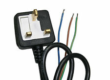 5 * 3 PIN UK PLUG 5 AMP FULLY MOULDED WITH STRIPPED BARE ENDS 1.4M CABLE