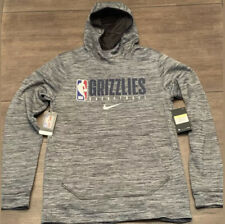Nike Memphis Grizzlies NBA Team Issued Hoodie Black Heather Men's Size L Tall