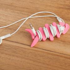 10pcs Random Colour Fish Bone Cable Winder Organizer For Earphone MP4 iPhone