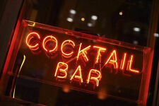 "New Cocktail Bar Neon Light Sign Lamp Beer Pub Acrylic 14"" Real Glass Handmade"