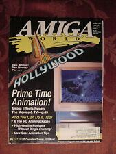 RARE AMIGA World magazine November 1993 HOLLYWOOD 3-D Animation