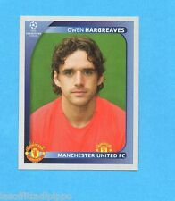 PANINI-CHAMPIONS 2008/2009-Fig.16- HARGREAVES - MANCHESTER UTD -NEW BLACK
