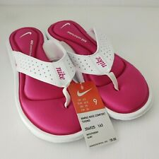 Nikes Women's Comfort Thong Size9 white Pink New