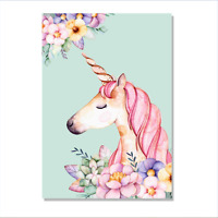 Canvas Prints Painting Picture Photo Wall Art Home Office Decor Unicorn Frames