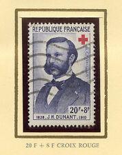 STAMP / TIMBRE FRANCE OBLITERE N° 1188 CROIX ROUGE J. HENRI DUMONT