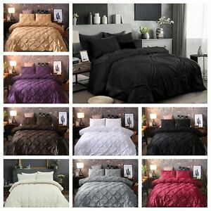 Diamond Embroidery Duvet/Doona/Quilt Cover Set Queen/King Size Bedding Supersoft