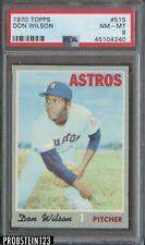1970 Topps #515 Don Wilson Houston Astros PSA 8 NM-MT