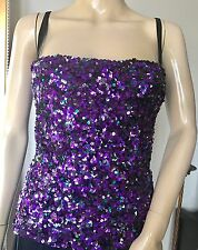 Dolce Gabbana Sequin Purple Bustier Top Size IT 38 XS