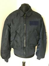 Alpha Industries CWU-45P Navy Blue Military Grade Flying Bomber Jacket Large