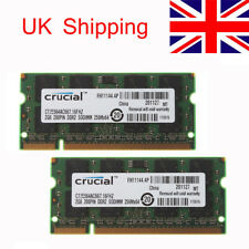 UK Crucial 4GB 2X 2GB Kits PC2-5300S DDR2 667Mhz Laptop Notebook Memory RAM @9H