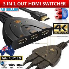 HDMI Splitter 3in1 Out Cable Adapter Converter 1080 4K Multi Display Duplicator
