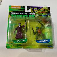 """Teenage Mutant Ninja Turtle Leonardo& Splinter 2"""" Figures nickelodeonToy Mini"""