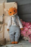 Teddy Handmade Interior Toy Collectable Gift Animal Doll OOAK Fox Decor