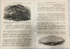 4 pages from The Illustrated London News.  Song lyrics and musical notes.  Text