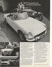 1972 MGB British Leyland Motors Advertisement