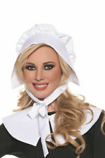 Underwraps Pilgrim Bonnet & Collar Adult Womens Halloween Costume Kit 28448