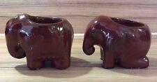 Paire de PARTYLITE éléphant bougie titulaires