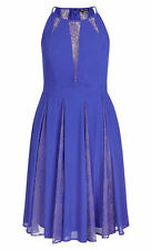 City Chic Lagoon Blue Lace insert Lined Party Dress size XL 22 NEW