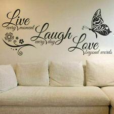 Hot Live Laugh Love Quotes Butterfly Wall Stickers DIY Art Room Decal Home Decor
