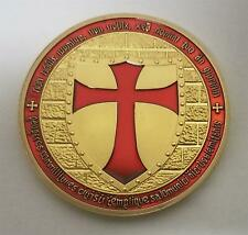 TEMPLAR Medieval Knight Crusader CHIP POKER CARD GUARD CHALLENGE COIN 4 cm New