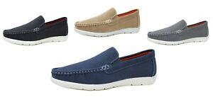Mocassini uomo casual eleganti estivi scarpe Espadrillas nero blu grigio beige