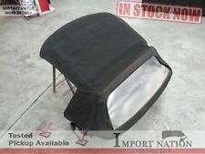 ALFA ROMEO 916 SPIDER USED SOFT-TOP ROOF COVER BLACK CANVAS 98-05 CRACKED WINDOW