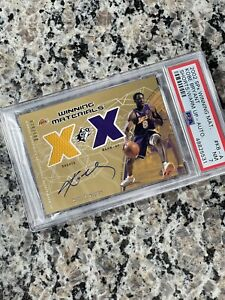 2002 SPx Winning Materials Kobe Bryant Jersey AUTO #/100 PSA 7 NM LAKERS PMJS