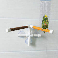 Parrot Bird Toy Rack Stand Play Stands Perch Shower Bath Platform Suction Cup Us