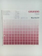 Original Bedienungsanleitung / User Manual: Grundig T 5000