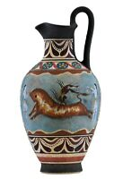 Bull Leaping Fresco Minoan Dolphins Knossos Vase Ancient Greek Pottery Ceramic