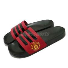 adidas Adilette Shower Manchester United Black Red Men Sandals Slides FW7072