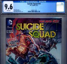 PRIMO:  SUICIDE SQUAD #10 NM+ 9.6 CGC Harley Quinn DC movie New 52 comics lot