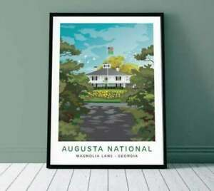Augusta National Golf Club Poster, Masters Golf Poster, Wall Art Decor